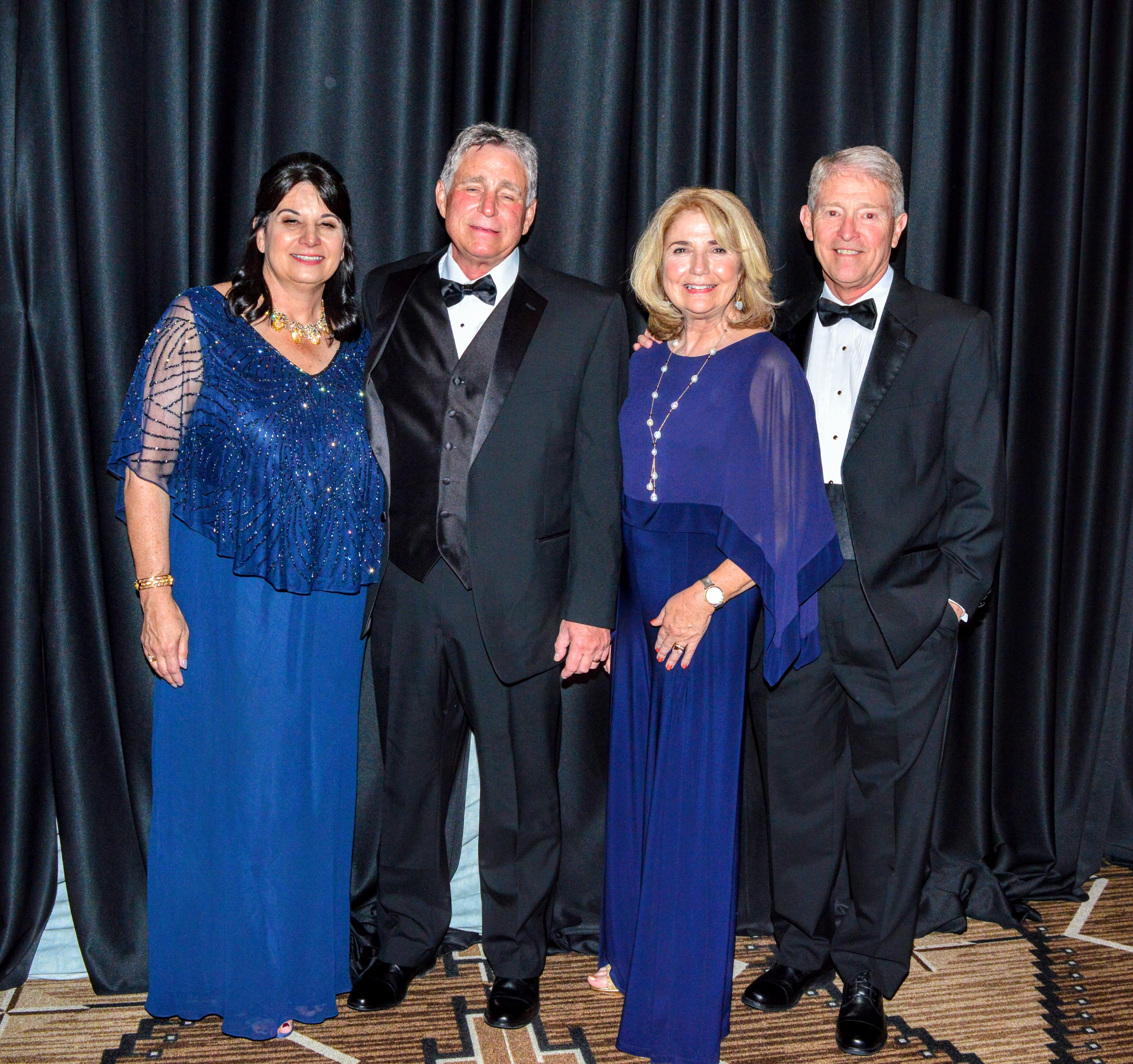 2018-2019 Co-Presidents Renee Grout and Teena King with husbands Jim Grout and Jerry King