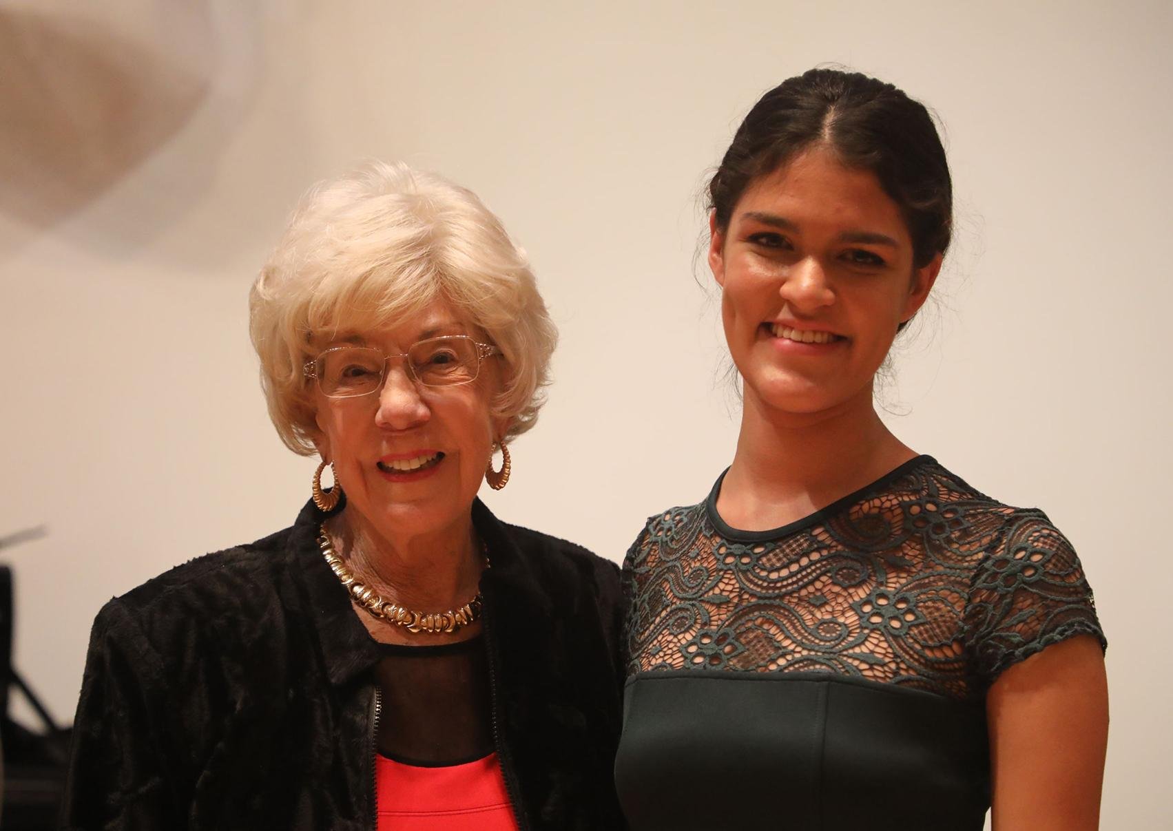 Jackie McGehee and Carol Stringer, 2019 recipient of the Most Promising String Student Award